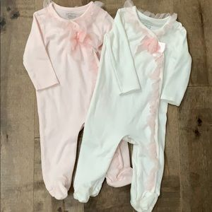 *Set of 2* First Impressions Tulle footie 3-6 mths